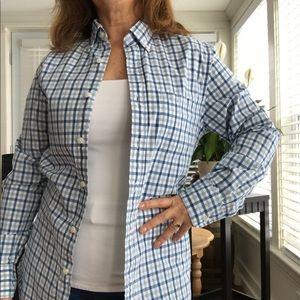 J. Crew button down plaid shirt